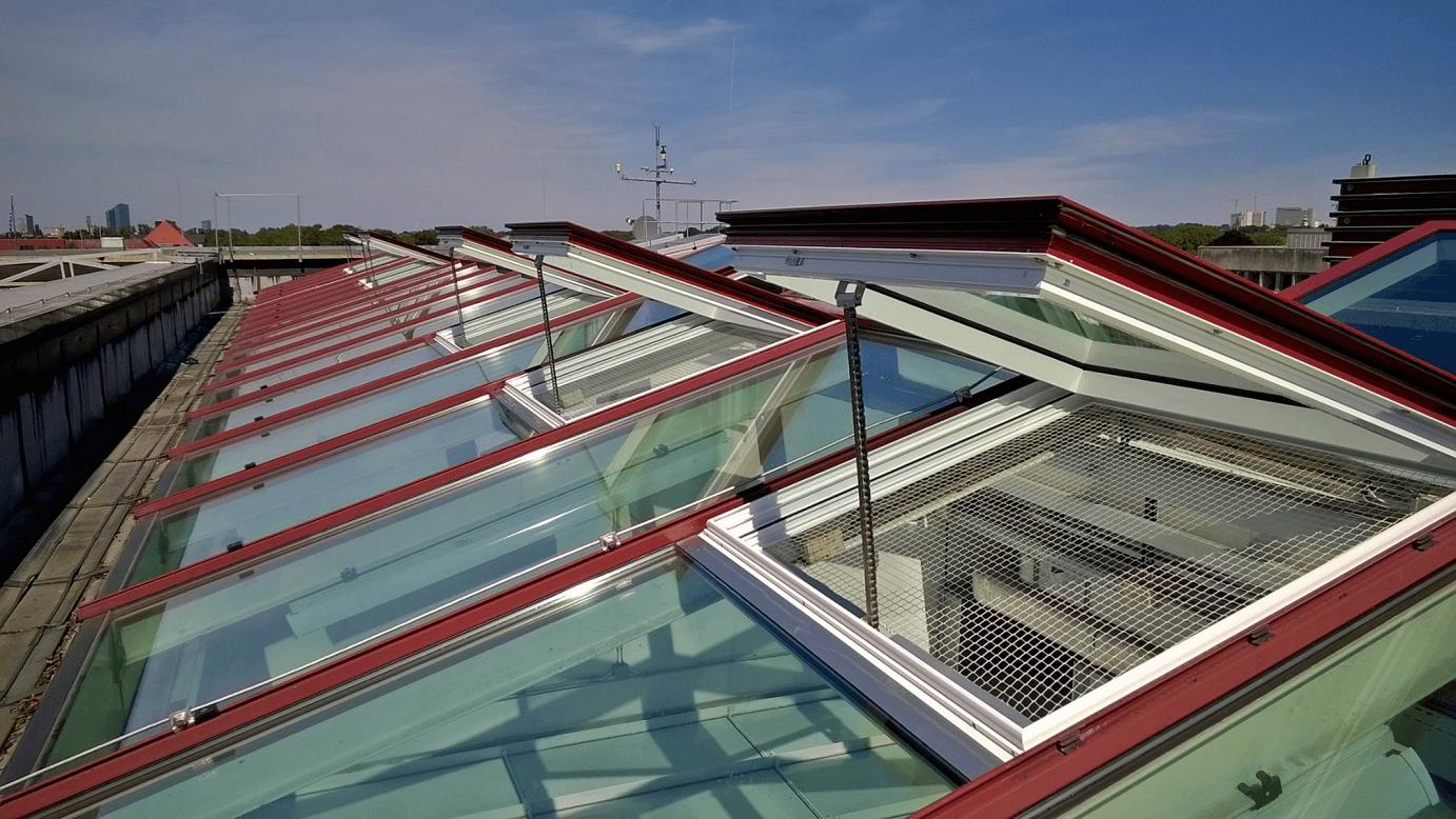 Kettenantrieb Dachfenster